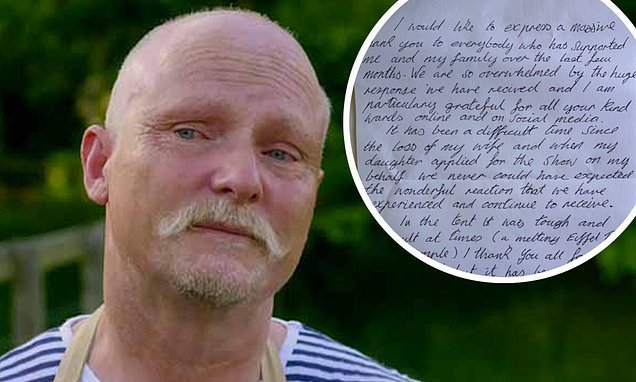 GBBO's Terry Hartill leaves fans emotional with a ...