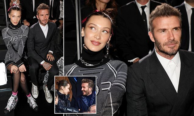 Bella Hadid and David Beckham reunite at the Dior Homme show in Tokyo   Top  News Wood e2c246a1233