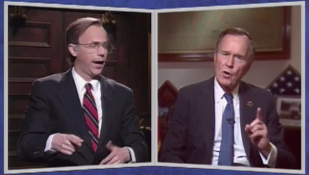 snl pays tribute to george h w bush with clips of his dana