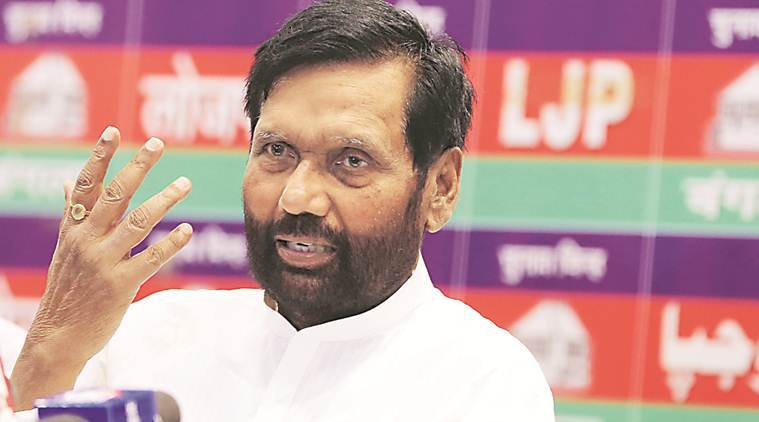 Ram Vilas Paswan Takes Charge Says Ready With 100 Day Plan Top News Wood